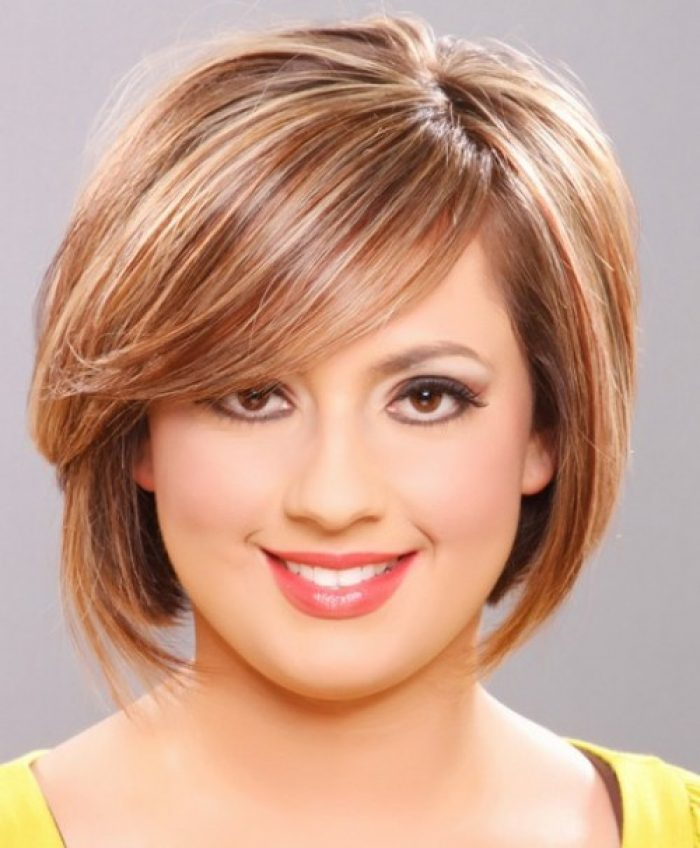 Pictures of Short Hairstyles Round Face Over 50