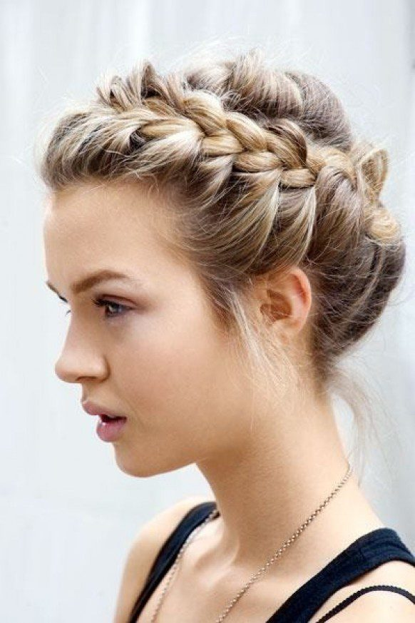 Vintage Braided Wedding Updo hairstyle