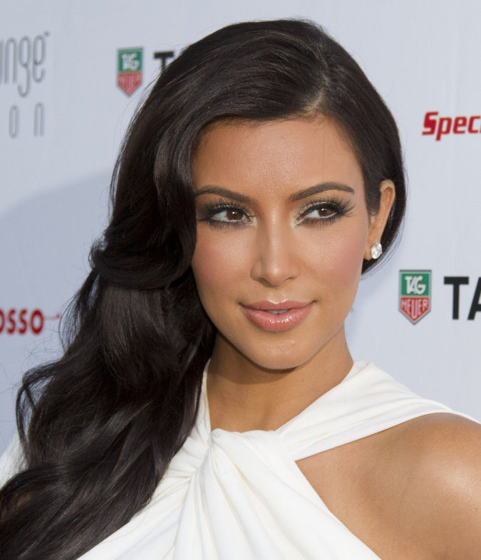 Wedding Hairstyles Kim Kardashian Pictures