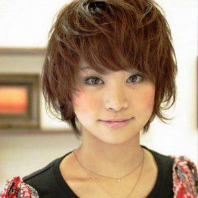 Asian Messy Hairstyles Short