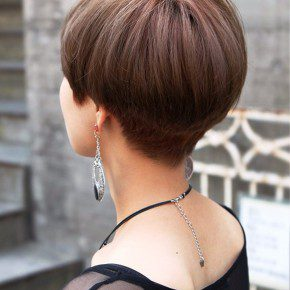 Back View Of Cute Short Japanese Haircut