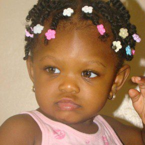 Black Children Hairstyles with Beads