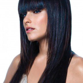 Black Hairstyles For Long Hair with Bangs