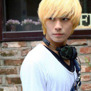 Blonde Korean Hair Style For Guys