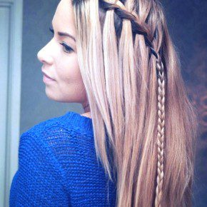 Braided Choppy Waterfall Hairstyle