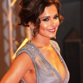 Cheryl Cole Messy Updo For Short Hair