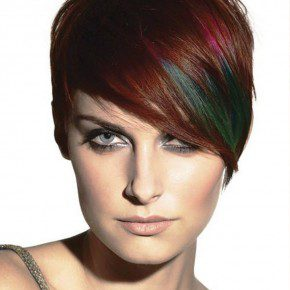 Colored Short Hairstyles 2013