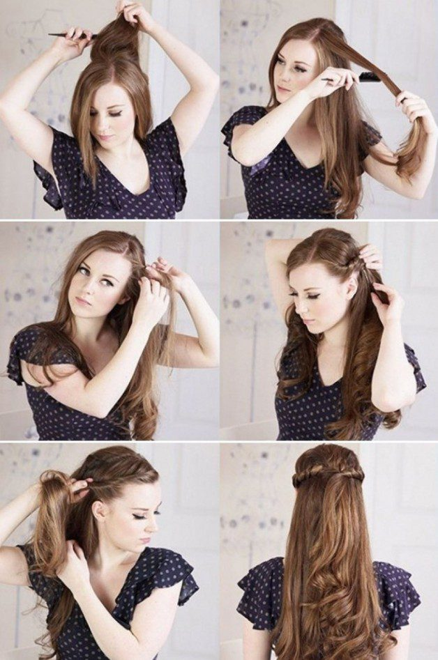 Curly hairstyles step by step