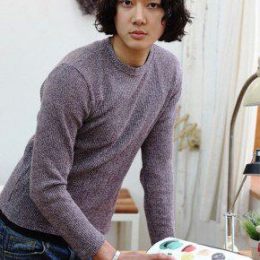Curly Korean Hairstyle For Men