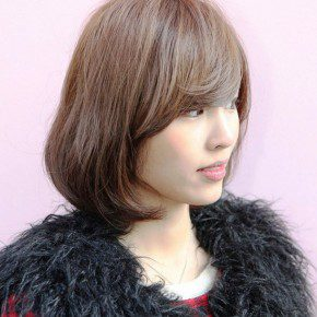 Cute Short Bob Hairstyle With Bangs Ideas
