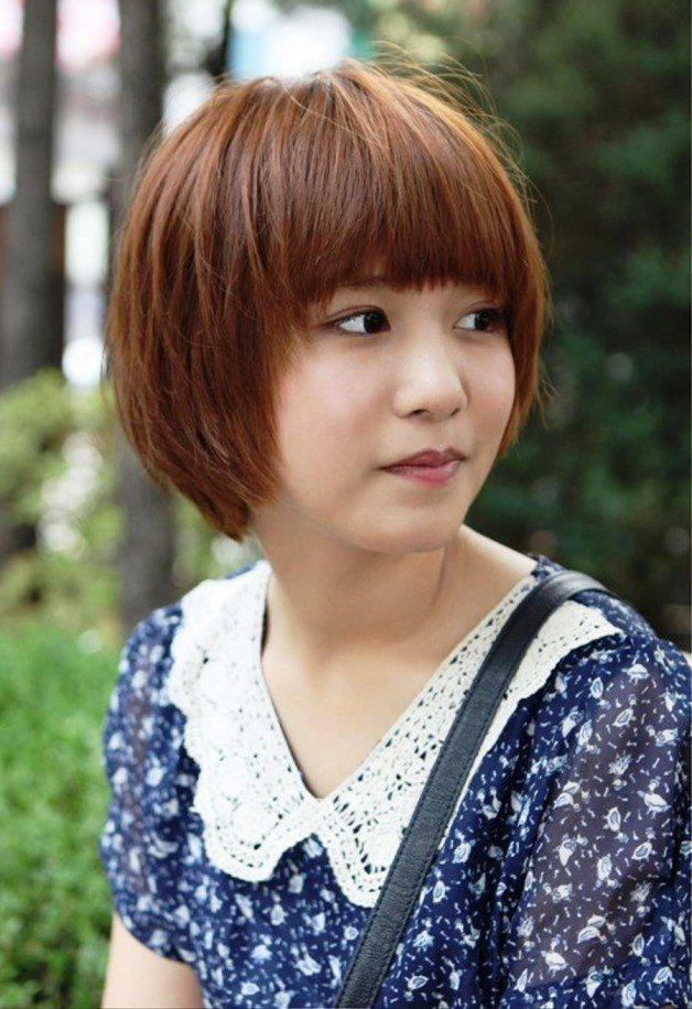Cute Short Korean Bob Hairstyle Detail: