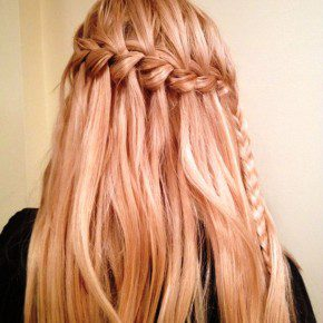 Cute Waterfall Braid Hairstyle For Women