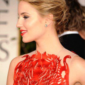 Dianna Agron Bobby Pinned Messy Updo