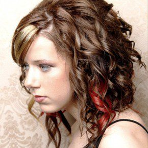 Girls Cute Curly Hairstyles