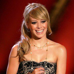 Hilary Duff Low Loose Ponytail With Bangs