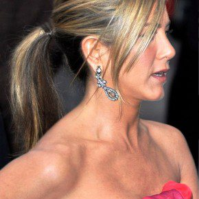 Jennifer Aniston Ponytail Hairstyles With Bangs