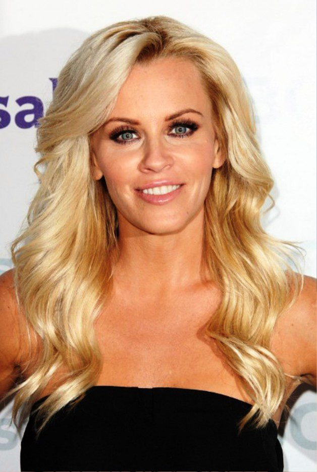 Jenny McCarthy Long Wavy Blonde Hairstyle With Bangs Detail:
