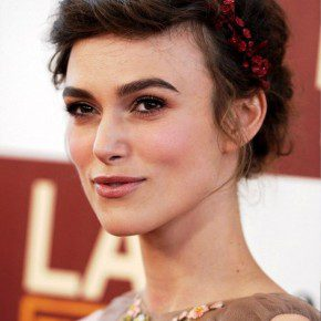 Keira Knightley Romantic Braided Updo