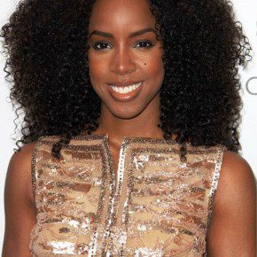 Kelly Rowland Long Curly Black Hairstyles