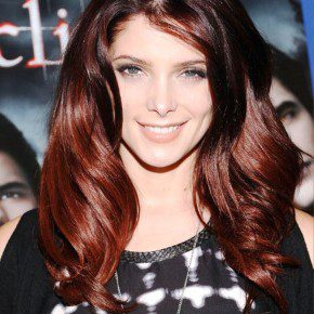 Layered Red Ombre Hair