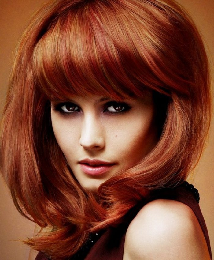 Medium-Length-Hairstyles-for-Thick-Hair-with-Bangs