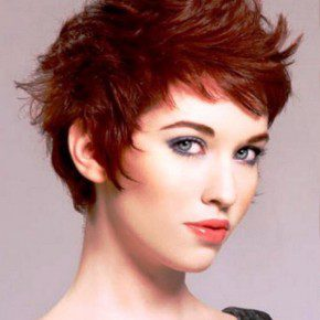 Red Funky Hairstyles Short