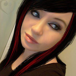 Red and Black Hairstyles for Girls