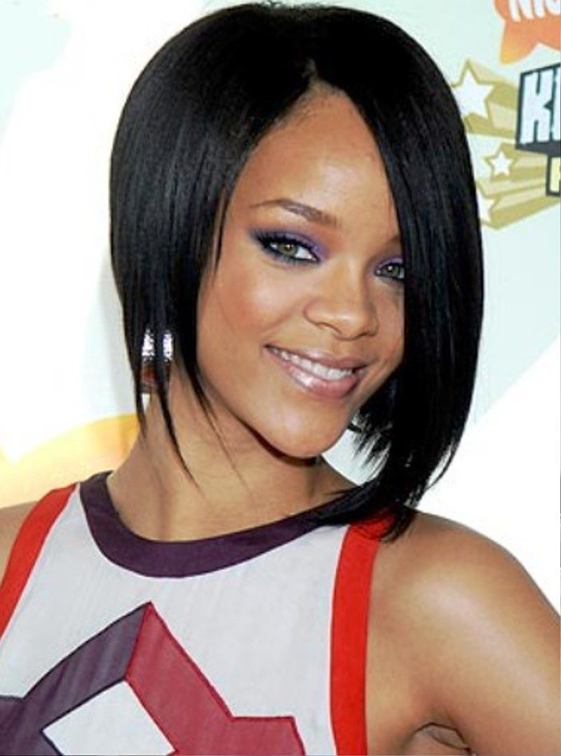 Pictures of Rihanna Long Bob Hairstyle