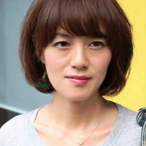 Sexy Short Messy Bob Hairstyle With Bangs
