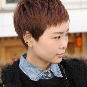 Short Boyish Asian Hairstyle For Women