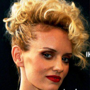Short Curly Faux Hawk Hairstyle