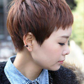 Short Layered Boyish Haircut For Women