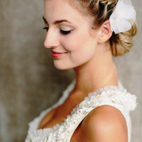 Side View Of Braided Bun For Wedding
