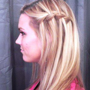 Sideview Of Waterfall Braid Hairstyles