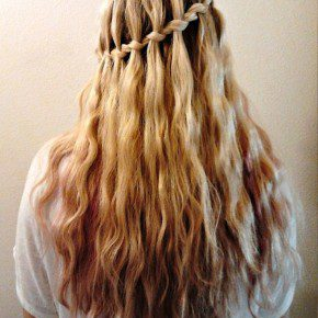 Stylish Waterfall Braid Hairstyle