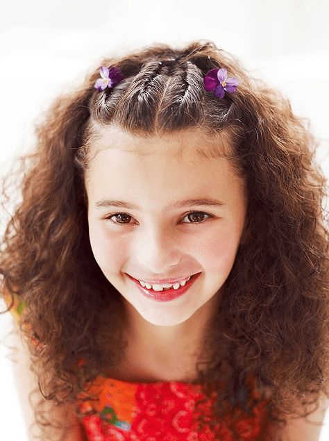 back-to-school braids on top hairstyle