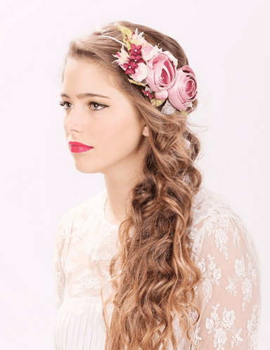 country wedding long hairstyle