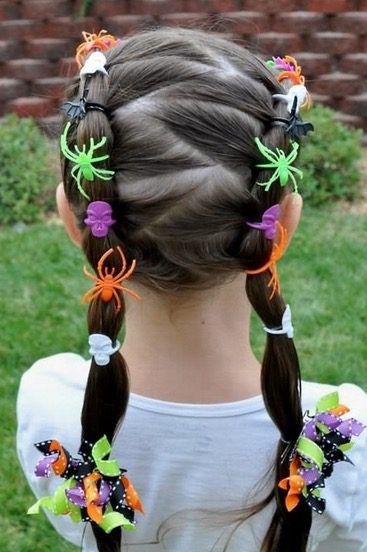 Cute Halloween hair