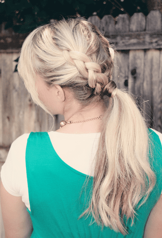 Dutch French Braided Ponytail
