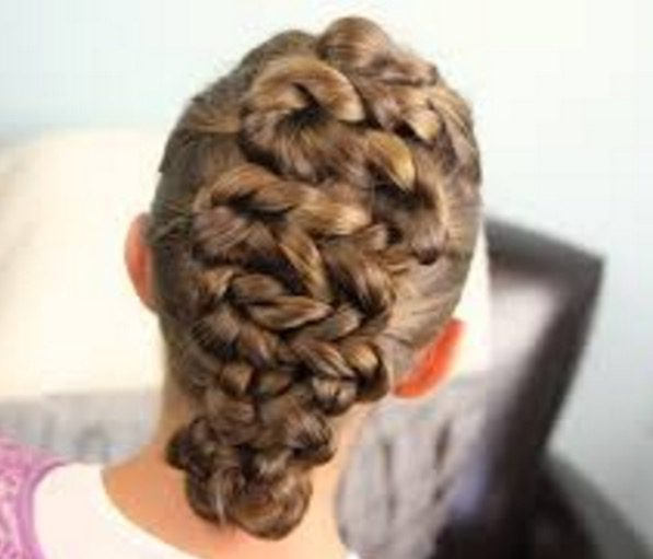 easter braids girls hairstyle