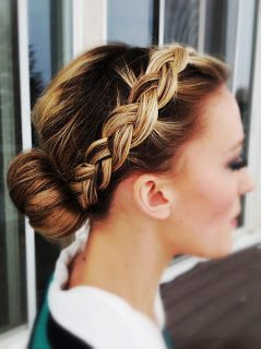 Front to back braided bun