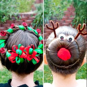 Kids Christmas Hairstyle Ideas