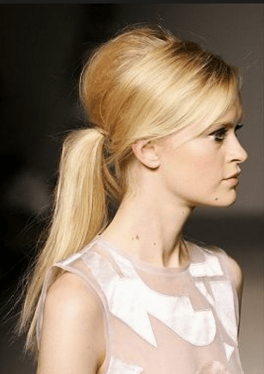 low pony tail hairstyle