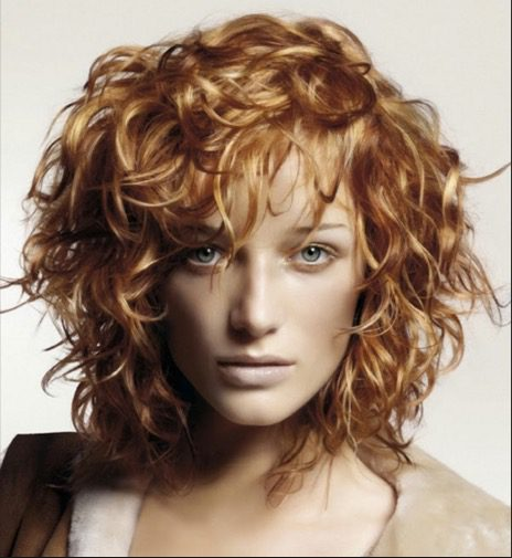 Short Curly Messy Hairstyle