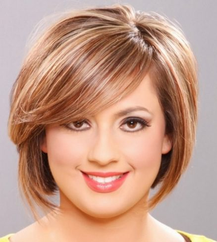 Short hairstyle for fat face
