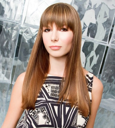 Straight Bangs Long Hairstyle