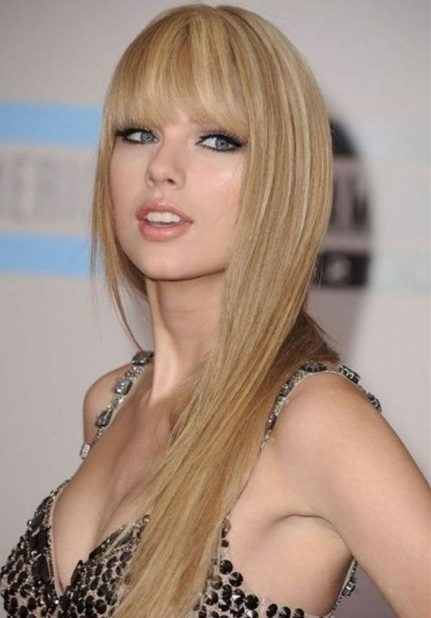 Straight Hair with Bangs Hairstyle