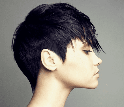 Super short hairstyle