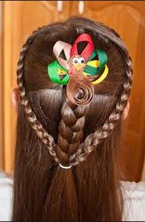 Thanksgiving hairstyle for girls