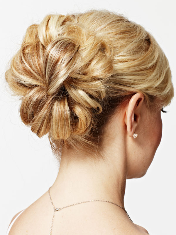 Pictures of wedding updos for thin hair